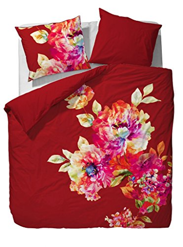 essenza baumwolle satin bettw sche leonor red gr e 200x200 cm 2 x 80x80 cm online kaufen bei. Black Bedroom Furniture Sets. Home Design Ideas