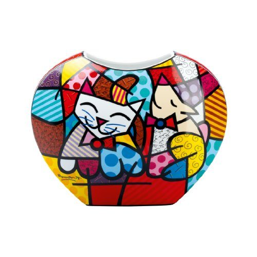 Goebel-66450545-Romero-Britto-Vase-Happy-Cat-Snob-Dog-0