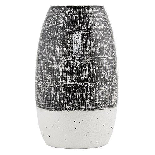 HOUSE-DOCTOR-Ac0155-Vase-Lara-schwarz-wei-18x30cm-0