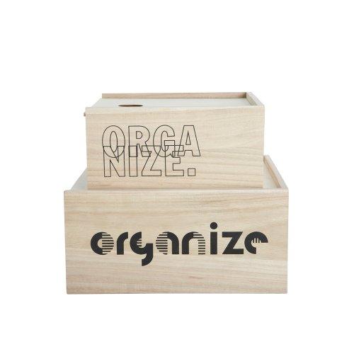 house doctor aufbewahrungsbox holz 2er set art su0202 online kaufen bei woonio. Black Bedroom Furniture Sets. Home Design Ideas