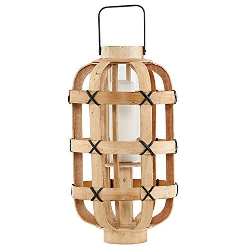 house doctor fc0256 laterne 39 bamboo 39 25x45cm holz mit. Black Bedroom Furniture Sets. Home Design Ideas