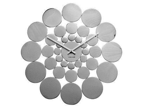 KARLSSON-KA4607-Wanduhr-Disk-Stahl-poliert-0