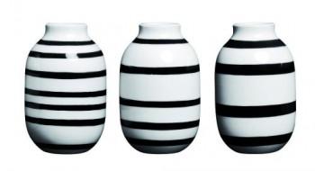 Khler-Design-3er-Set-Mini-Vasen-Omaggio-Streifen-schwarz-wei-0