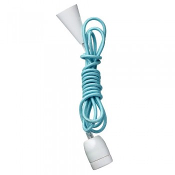 Lampe-Deckenlampe-Unik-Blue-E27-3-m-lang-Textil-Keramik-0