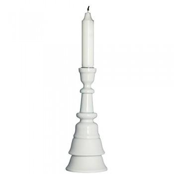 MADAM-STOLTZ-13F92571-Kerzenstnder-Wei-Gold-8x20-cm-Dnisch-Farbeweiss-0
