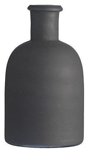 MADAM-STOLTZ-SAK1924-Vase-Leoni-16x9cm-matt-Schwarz-0
