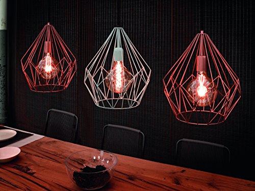 eglo 49258 h ngeleuchte carlton 1 e27 stahl kupferfarben. Black Bedroom Furniture Sets. Home Design Ideas