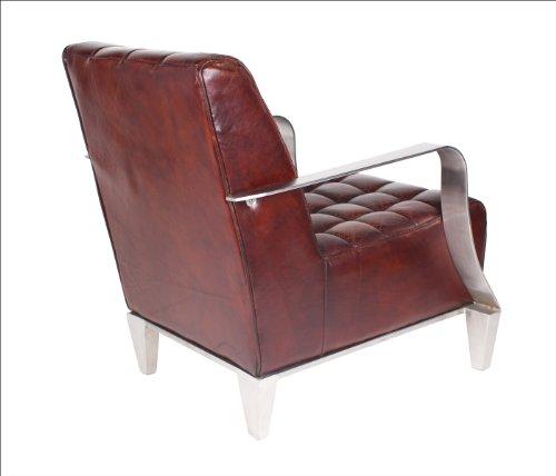 vintage echtleder sessel edelstahl ledersessel design sofa lounge m bel neu 448 online kaufen. Black Bedroom Furniture Sets. Home Design Ideas