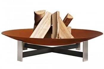 Feuerstelle Outdoor Model Circle Set Mit Grill Und 4 B Nken In Edelrost Online Kaufen Bei Woonio
