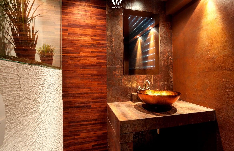 Das Badezimmer muss nicht immer weiß und steril sein wie dieser ...