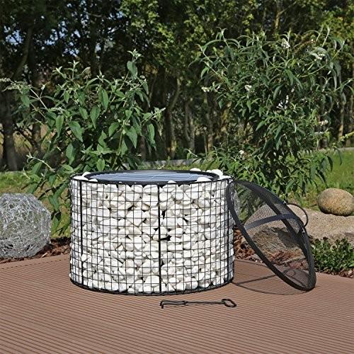 gabionen feuerschale gfs2 mit grill gabione gabionengrill grillgabione feuerkorb grillrost. Black Bedroom Furniture Sets. Home Design Ideas