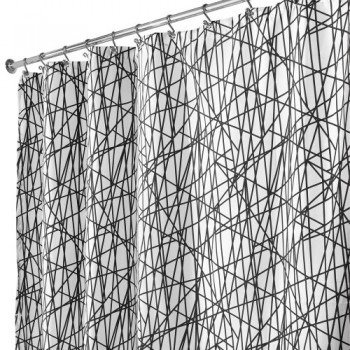 Interdesign-36994EU-Abstract-Shower-Curtain-180-x-200-cm-schwarz-wei-0