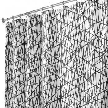Interdesign-36994EU-Abstract-Shower-Curtain-180-x-200-cm-schwarz-wei-0