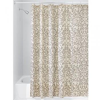 Interdesign-37920EU-Twigz-Duschvorhang-183-x-183-cm-vanille-bronzefarben-0