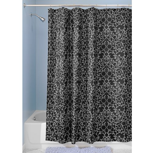interdesign twigz fabric shower curtain 72 x 72 black white online kaufen bei woonio. Black Bedroom Furniture Sets. Home Design Ideas