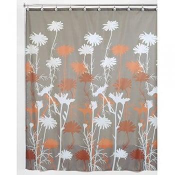 Interdesign-39222EU-Daizy-Duschvorhang-183-x-183-cm-schwarz-grau-0