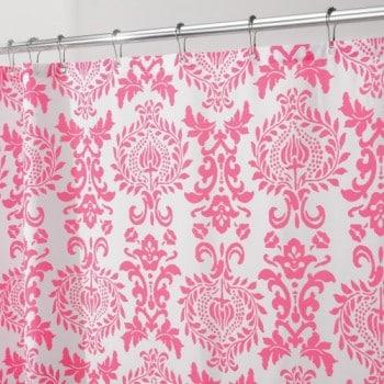 Interdesign-40420EU-Damask-Duschvorhang-183-x-183-cm-Rosa-0