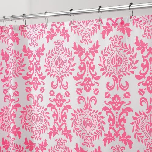 Interdesign damask fabric shower curtain 72 x 72 hot - Duschvorhang rosa ...