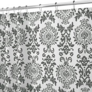 Interdesign-40423EU-Damask-Duschvorhang-183-x-183-cm-dunkelgrau-0