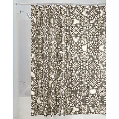 interdesign medallion shower curtain 72 by 72 inch white. Black Bedroom Furniture Sets. Home Design Ideas