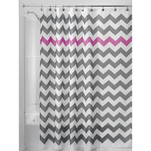 Interdesign chevron shower curtain 72 x 72 inch gray - Coole duschvorha nge ...