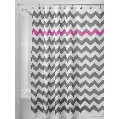 InterDesign Chevron Shower Curtain 72 X Inch Gray Orchid Online Kaufen Bei WOONIO