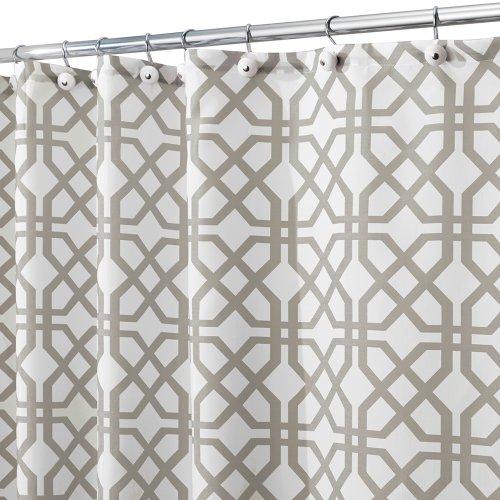Interdesign Trellis Fabric Shower Curtain 72 X 72 Stone Gray