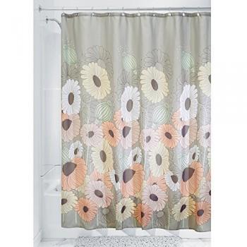 Interdesign-45820EU-Wild-Flowers-Duschvorhang-183-x-183-cm-mehrfarbig-pastell-0