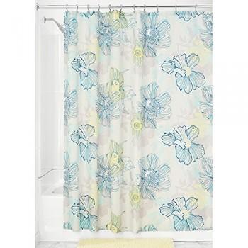Interdesign-49120EU-Elsa-Duschvorhang-183-x-183-cm-mehrfarbig-blau-0
