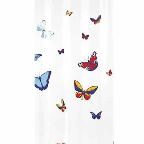 butterflies pvc free fabric shower curtain. Black Bedroom Furniture Sets. Home Design Ideas