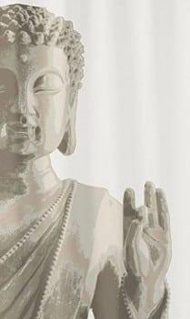 Kleine-Wolke-5250271305-Duschvorhang-Buddha-180-x-200-cm-taupe-0