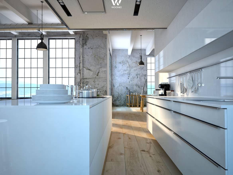 zeitlos und elegant bietet sich diese k che zum kochen an. Black Bedroom Furniture Sets. Home Design Ideas