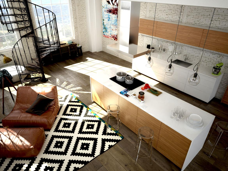 sehr sch ne mischung zwischen warmen holz und gl nzendem. Black Bedroom Furniture Sets. Home Design Ideas