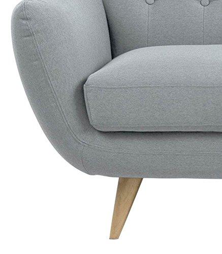 retro sofa absalon oswald 3 sitzer grau online kaufen bei woonio. Black Bedroom Furniture Sets. Home Design Ideas