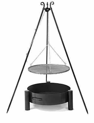schwenkgrill dreibein edelstahl 70cm inkl feuerschale pan 33 80cm online kaufen bei woonio. Black Bedroom Furniture Sets. Home Design Ideas