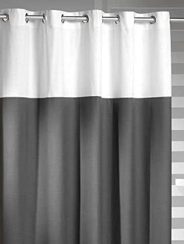Startseite Bad Duschvorhange Hookless Shower Curtain Sealskin Doppio Gray 233521314 Duschvorhang Double 180 X 200 Cm