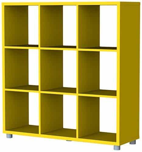Tenzo-1833-002-Box-Designer-Raumteiler-3x-3-111-x-107-x-35-cm-Spanplatte-lackiert-matt-gelb-0