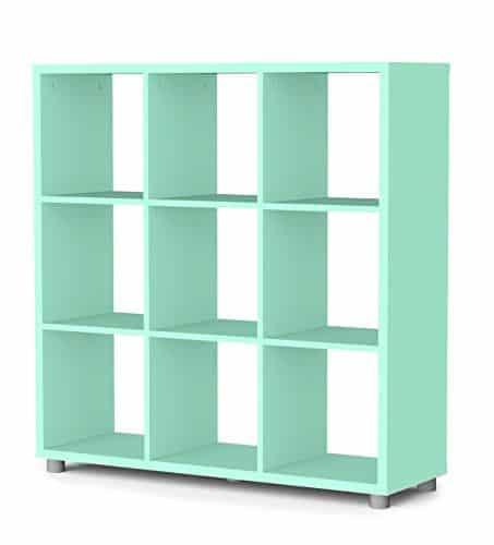 Tenzo-1833-022-Box-Designer-Raumteiler-3x-3-111-x-107-x-35-cm-Spanplatte-lackiert-matt-pastellgrn-0