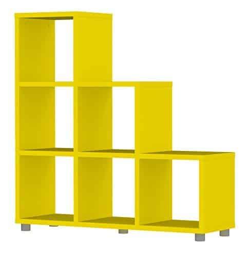 Tenzo-1836-002-Box-Designer-Stufenregal-113-x-109-x-35-cm-Spanplatte-lackiert-matt-gelb-0
