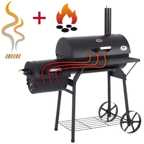 ultranatura smoker grill denver 2 brennkammern 119 x 66 x 135 cm online kaufen bei woonio. Black Bedroom Furniture Sets. Home Design Ideas