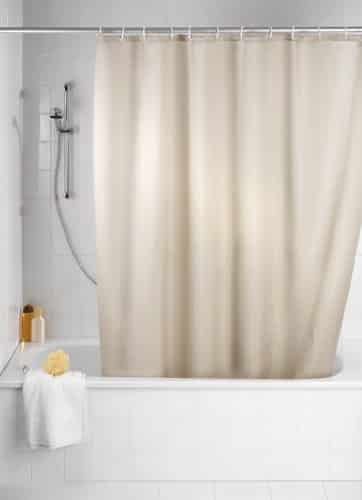 wenko 20045100 shower curtain textile anti mould 180 x 200 cm beige by wenko online kaufen bei. Black Bedroom Furniture Sets. Home Design Ideas