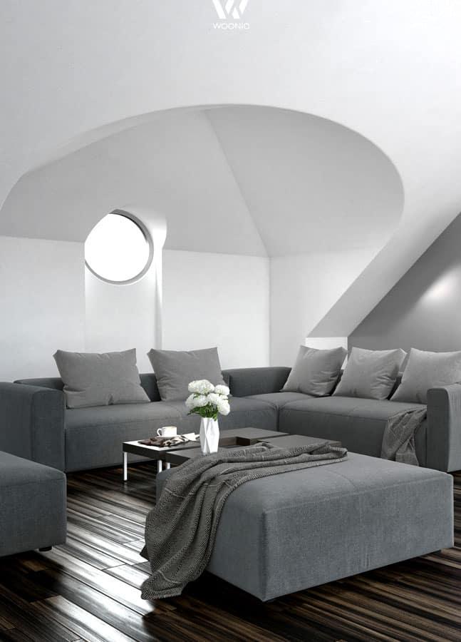 bei wohnungen in graut nen kommen farbklekser bei der deko umso st rker raus wohnidee by woonio. Black Bedroom Furniture Sets. Home Design Ideas