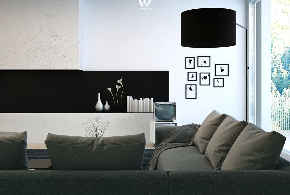 dezente farben bestimmen dieses elegante wohnzimmer ensemble wohnidee by woonio. Black Bedroom Furniture Sets. Home Design Ideas