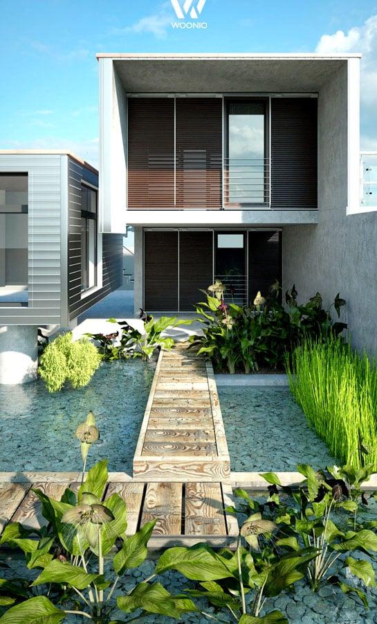 Auf engstem raum modernste architektur und natur vereint for Architektur und natur