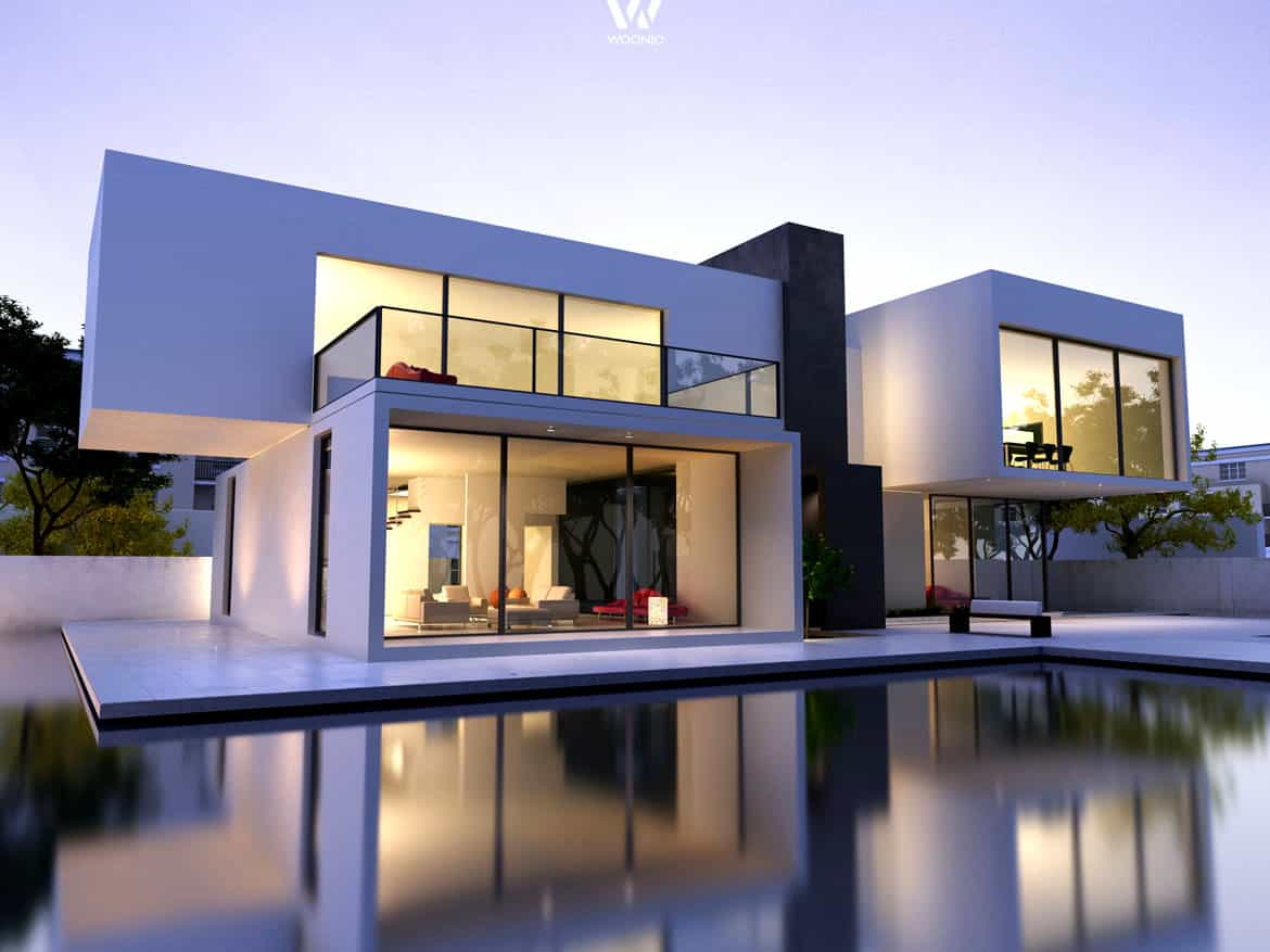 Modern house with pool online kaufen bei woonio for Design architektur