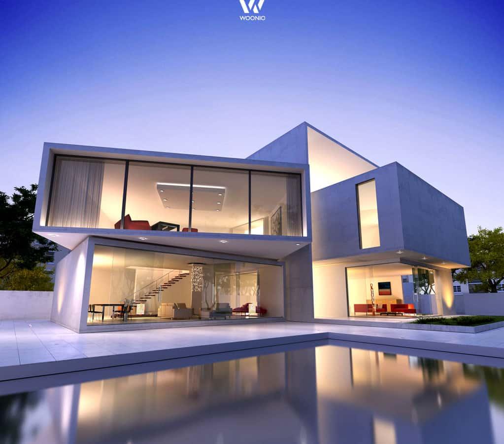 Das Designer-Haus der Oberklasse - Wohnidee by WOONIO