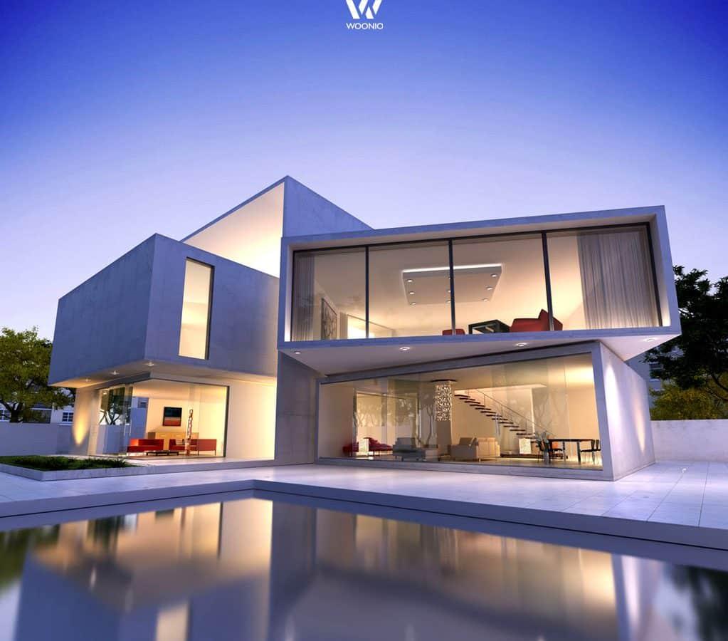 Traumhaus modern mit pool  Der wohl modernste Traum eines jeden Architektur-Fans - Wohnidee ...