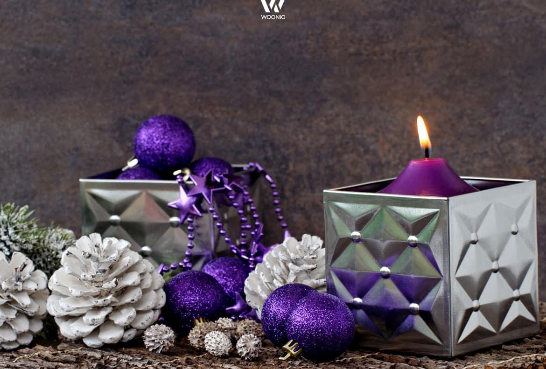 Lila ist der Trend zu Weihnachten - Wohnidee by WOONIO