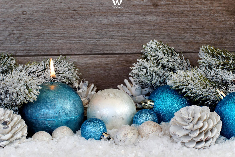 Weihnachtsdeko Blau