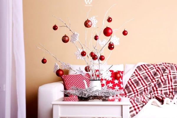 Weiss Und Rot Im Weihnachts Muster Mix